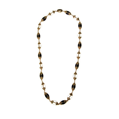 Swarovski Black, Gold, Clear, Crystal Necklace by Swarovski - Vintage Meet Modern - Chicago, Illinois