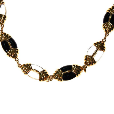 Swarovski Black, Gold, Clear, Crystal Necklace by Swarovski - Vintage Meet Modern Vintage Jewelry - Chicago, Illinois - #oldhollywoodglamour #vintagemeetmodern #designervintage #jewelrybox #antiquejewelry #vintagejewelry