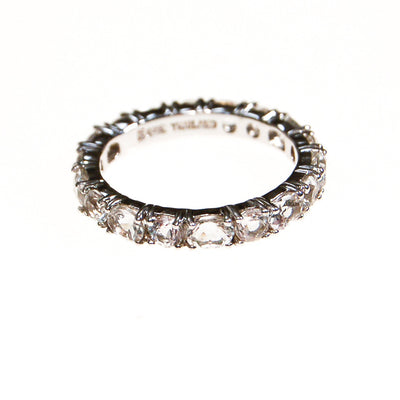 CZ Eternity Band, Sterling Silver, Ring Size 7 by Sterling Silver - Vintage Meet Modern Vintage Jewelry - Chicago, Illinois - #oldhollywoodglamour #vintagemeetmodern #designervintage #jewelrybox #antiquejewelry #vintagejewelry