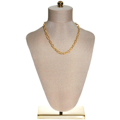 Crown Trifari Figure 8 Twisted Link Gold Necklace by Crown Trifari - Vintage Meet Modern Vintage Jewelry - Chicago, Illinois - #oldhollywoodglamour #vintagemeetmodern #designervintage #jewelrybox #antiquejewelry #vintagejewelry