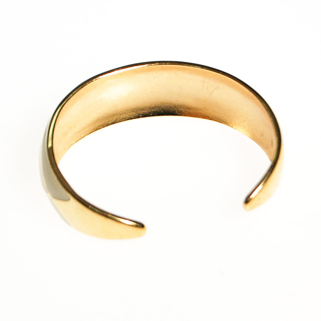 White and Gold Cuff Bracelet, Bracelet - Vintage Meet Modern