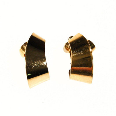 Napier Gold Ribbon Hoop Earrings by Napier - Vintage Meet Modern - Chicago, Illinois