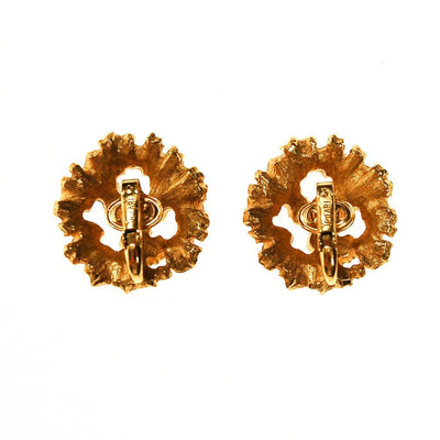 Crown Trifari Golden Leaves Earrings by Crown Trifari - Vintage Meet Modern Vintage Jewelry - Chicago, Illinois - #oldhollywoodglamour #vintagemeetmodern #designervintage #jewelrybox #antiquejewelry #vintagejewelry