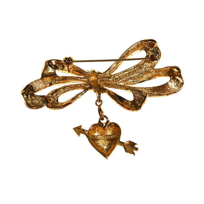 Cupids Heart and Arrow Brooch by Phister Enterprises by Phister Enterprises - Vintage Meet Modern Vintage Jewelry - Chicago, Illinois - #oldhollywoodglamour #vintagemeetmodern #designervintage #jewelrybox #antiquejewelry #vintagejewelry