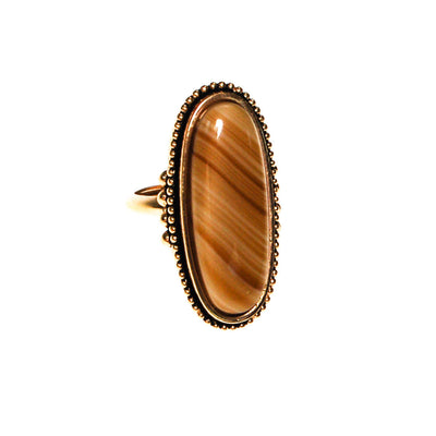 Natural Earth Tone Agate Statement Ring by Avon - Vintage Meet Modern Vintage Jewelry - Chicago, Illinois - #oldhollywoodglamour #vintagemeetmodern #designervintage #jewelrybox #antiquejewelry #vintagejewelry