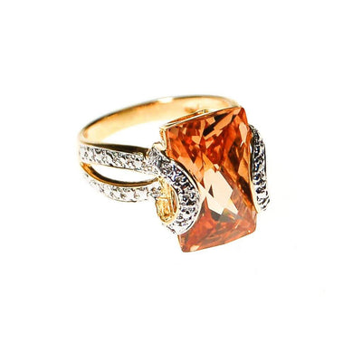 Real Collectibles by Adrienne Art Deco Inspired Citrine CZ Ring by Real Collectibles by Adrienne - Vintage Meet Modern - Chicago, Illinois