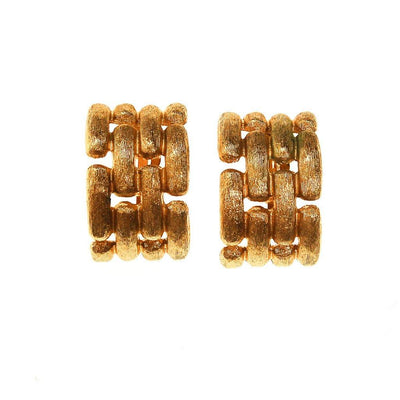 Givenchy Couture Gold Chain Link Earrings by Givenchy - Vintage Meet Modern Vintage Jewelry - Chicago, Illinois - #oldhollywoodglamour #vintagemeetmodern #designervintage #jewelrybox #antiquejewelry #vintagejewelry