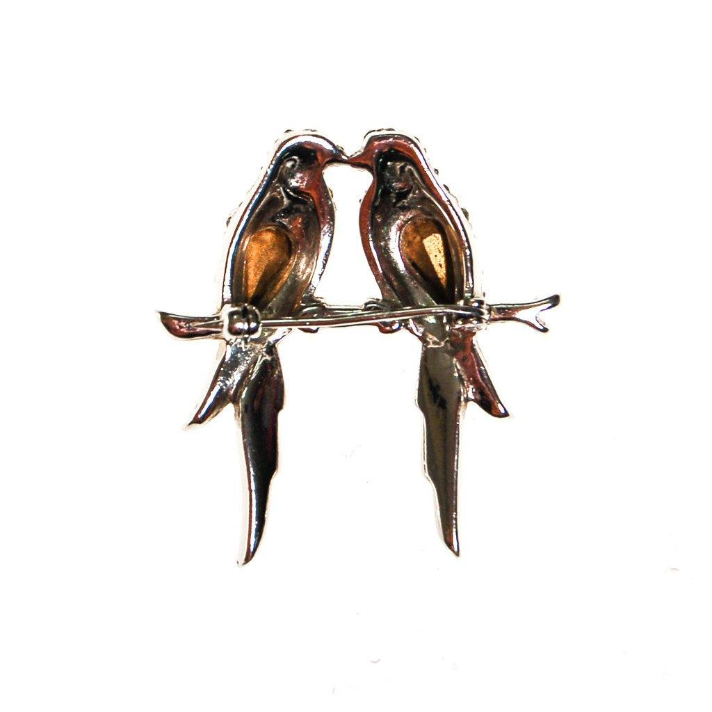 Rhinestone Love Bird Brooch - Vintage Meet Modern  - 3