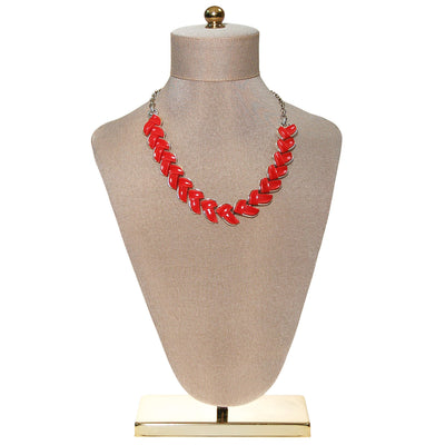 Retro Red Thermoset Necklace by Lisner by Lisner - Vintage Meet Modern Vintage Jewelry - Chicago, Illinois - #oldhollywoodglamour #vintagemeetmodern #designervintage #jewelrybox #antiquejewelry #vintagejewelry