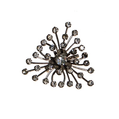 Rhinestone Starburst Brooch by Unsigned Beauty - Vintage Meet Modern - Chicago, Illinois