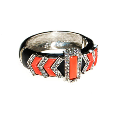 Kenneth Lane Black and Coral Bracelet by Kenneth Lane - Vintage Meet Modern Vintage Jewelry - Chicago, Illinois - #oldhollywoodglamour #vintagemeetmodern #designervintage #jewelrybox #antiquejewelry #vintagejewelry