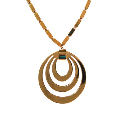 Monet Mad for Mod Bold Gold Statement Necklace by Monet - Vintage Meet Modern - Chicago, Illinois