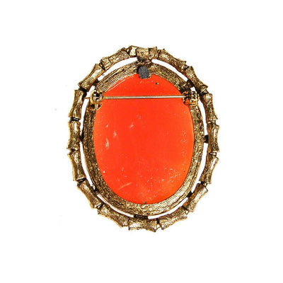 Oval Cameo Brooch with Bamboo Frame by Cameo - Vintage Meet Modern - Chicago, Illinois