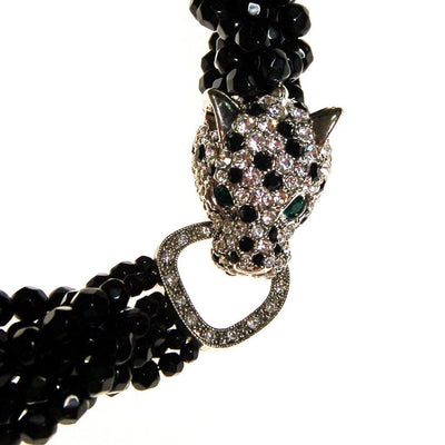 Vintage Kenneth Jay Lane Panther Necklace by Kenneth Jay Lane - Vintage Meet Modern - Chicago, Illinois