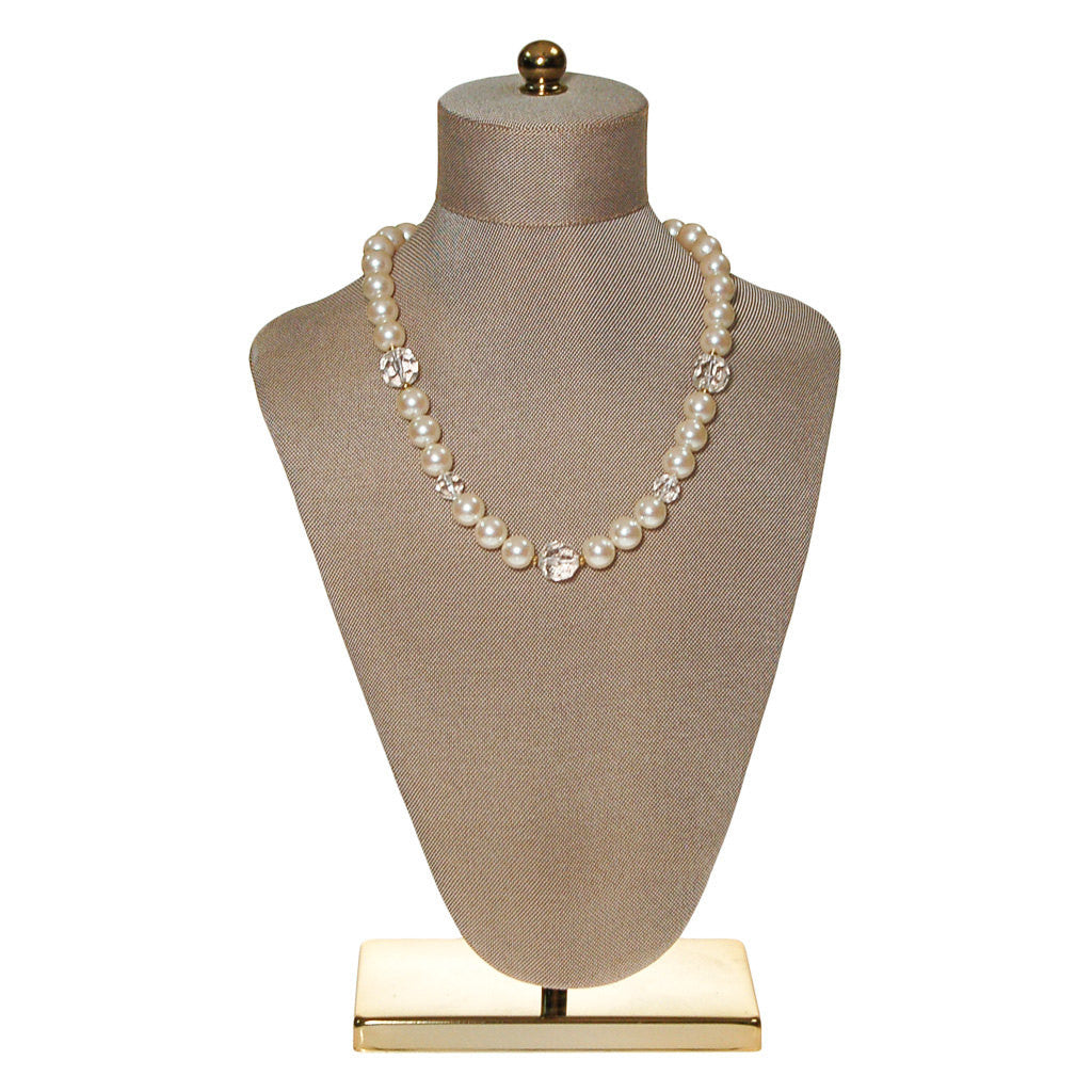 Marvella Pearl and Crystal Necklace - Vintage Meet Modern  - 5