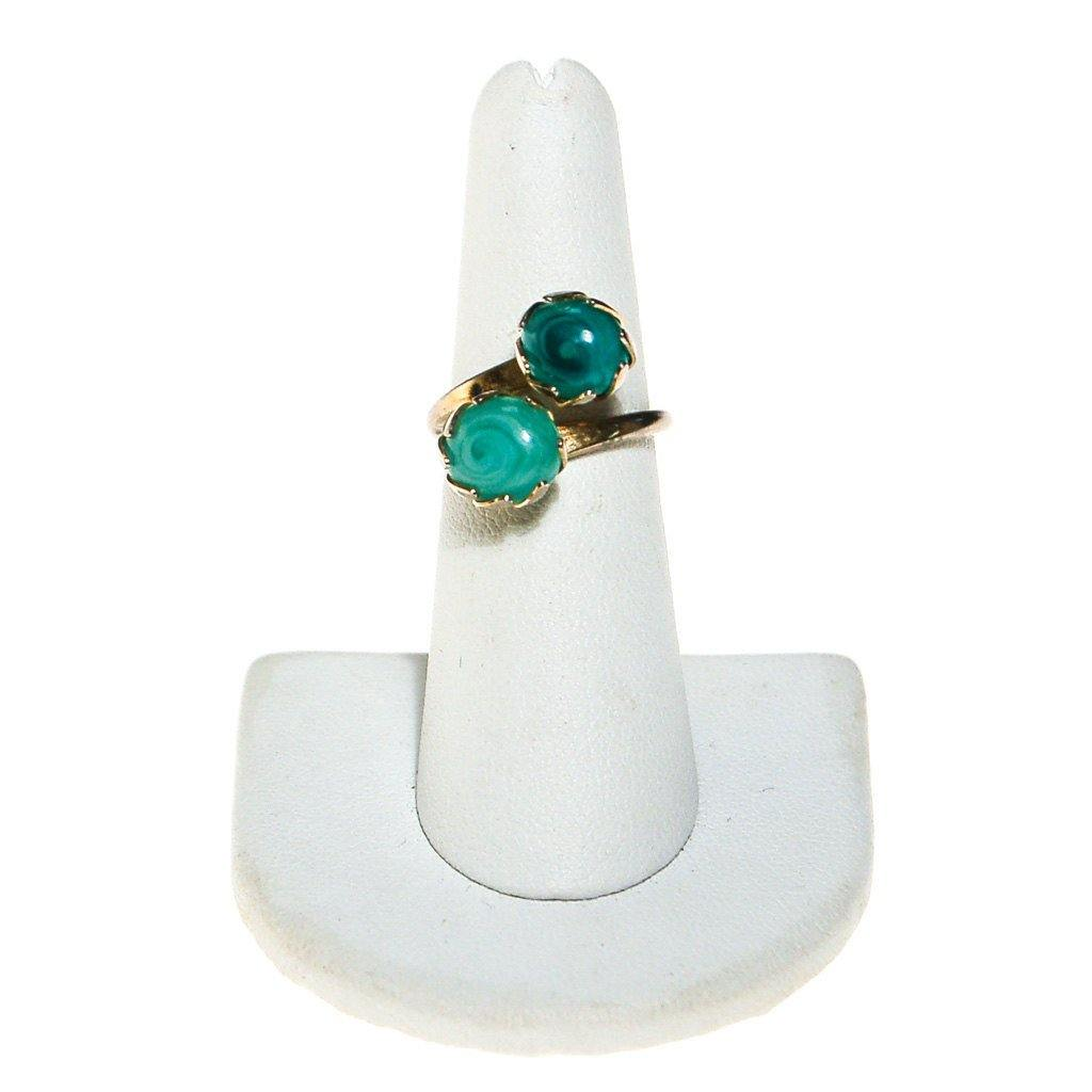 Sarah Coventry Aqua Art Glass Ring - Vintage Meet Modern  - 2