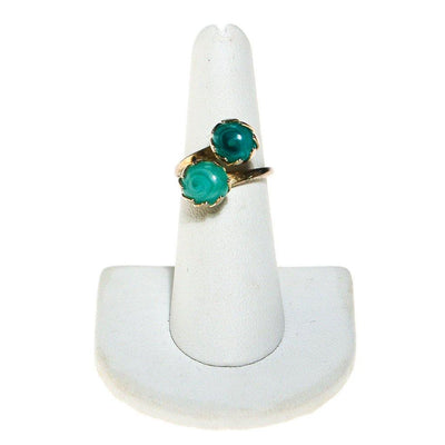 Sarah Coventry Aqua Art Glass Ring by Sarah Coventry - Vintage Meet Modern - Chicago, Illinois