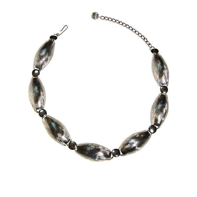 Abstract Modernist Silver Collar Necklace by Unsigned Beauty - Vintage Meet Modern - Chicago, Illinois