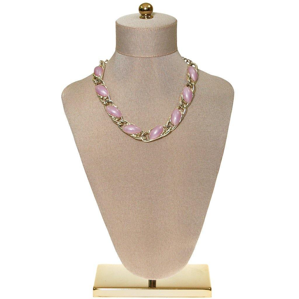 Lavender Moonglow Thermoset Necklace - Vintage Meet Modern  - 3