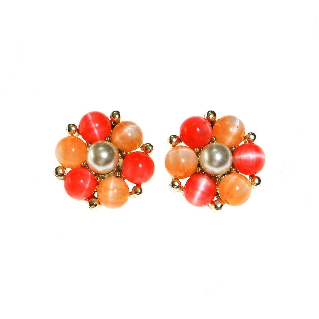 Lisner Peachy Moonglow Beaded Earrings - Vintage Meet Modern  - 2