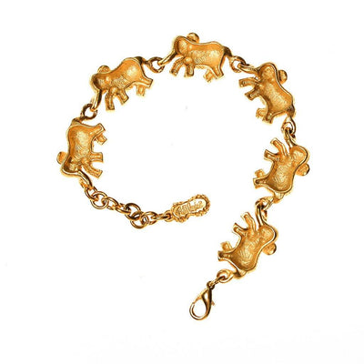 Bob Mackie Elephants On Parade Bracelet by Bob Mackie - Vintage Meet Modern - Chicago, Illinois