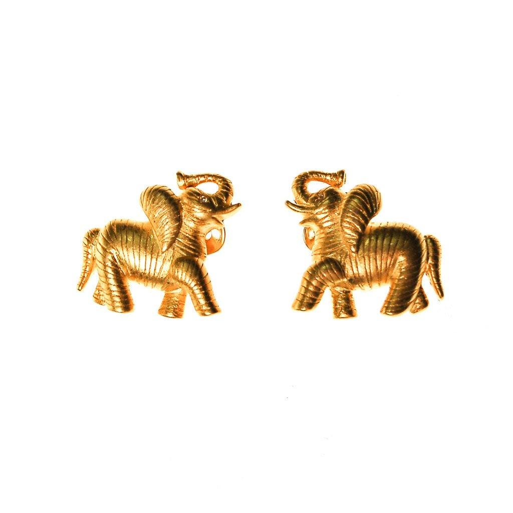 Bob Mackie Elephant Earrings, Earrings - Vintage Meet Modern