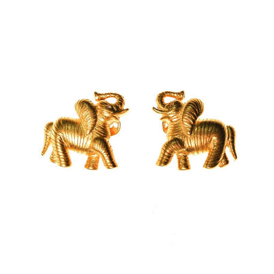 Bob Mackie Elephant Earrings by Bob Mackie - Vintage Meet Modern Vintage Jewelry - Chicago, Illinois - #oldhollywoodglamour #vintagemeetmodern #designervintage #jewelrybox #antiquejewelry #vintagejewelry