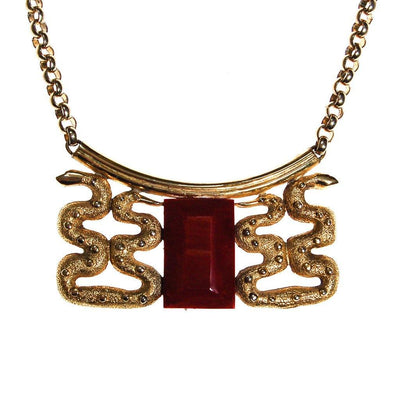 Lanvin Paris Snake Statement Necklace by Lanvin - Vintage Meet Modern - Chicago, Illinois