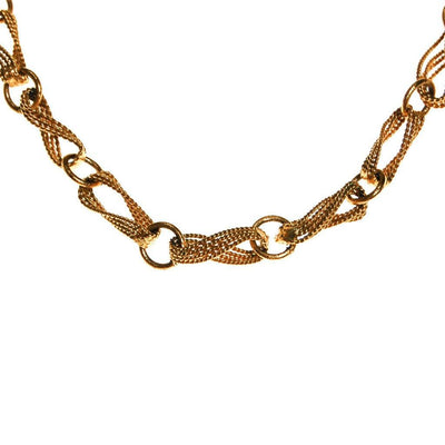 Crown Trifari Figure 8 Twisted Link Gold Necklace by Crown Trifari - Vintage Meet Modern - Chicago, Illinois