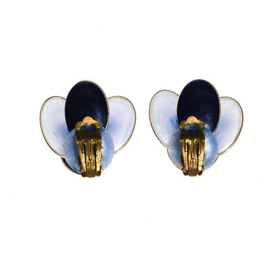 West Germany Blue Rhinestone Earrings by West Germany - Vintage Meet Modern - Chicago, Illinois