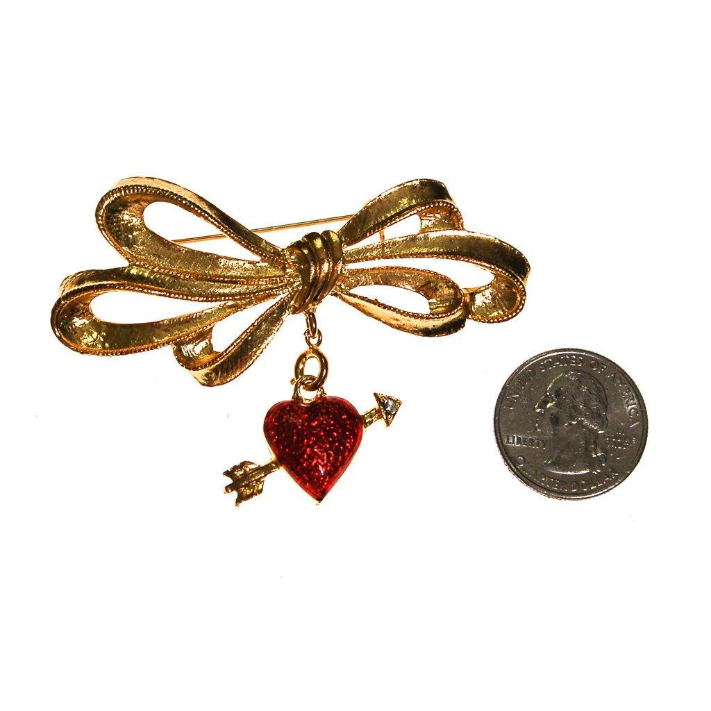 Cupids Heart and Arrow Brooch by Phister Enterprises - Vintage Meet Modern  - 2