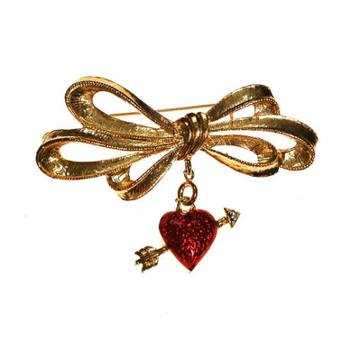 Cupids Heart and Arrow Brooch by Phister Enterprises by Phister Enterprises - Vintage Meet Modern - Chicago, Illinois