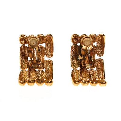 Givenchy Couture Gold Chain Link Earrings by Givenchy - Vintage Meet Modern - Chicago, Illinois
