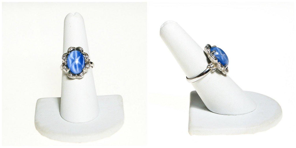 Light Blue Star Sapphire Statement Ring by Sarah Coventry