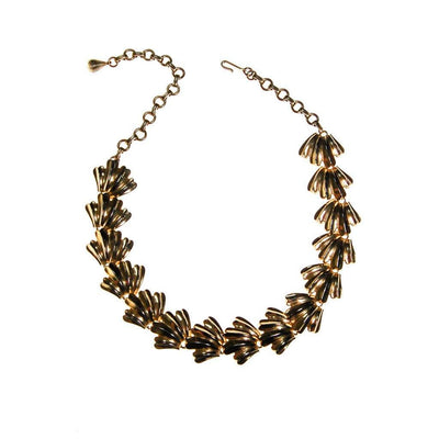 Gold Shell Link Necklace by Unsigned Beauty - Vintage Meet Modern Vintage Jewelry - Chicago, Illinois - #oldhollywoodglamour #vintagemeetmodern #designervintage #jewelrybox #antiquejewelry #vintagejewelry