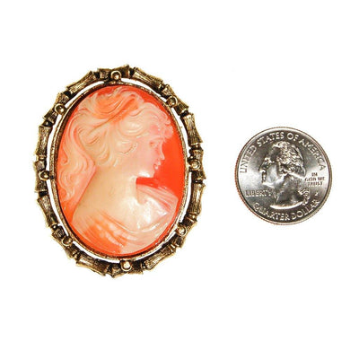 Oval Cameo Brooch with Bamboo Frame by Cameo - Vintage Meet Modern Vintage Jewelry - Chicago, Illinois - #oldhollywoodglamour #vintagemeetmodern #designervintage #jewelrybox #antiquejewelry #vintagejewelry