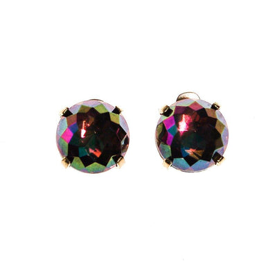 Zentall Iridescent Purple Rhinestone Earrings by Zental - Vintage Meet Modern Vintage Jewelry - Chicago, Illinois - #oldhollywoodglamour #vintagemeetmodern #designervintage #jewelrybox #antiquejewelry #vintagejewelry