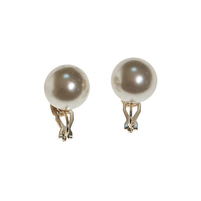 Large Classic White Pearl Earrings by Unsigned Beauty - Vintage Meet Modern - Chicago, Illinois