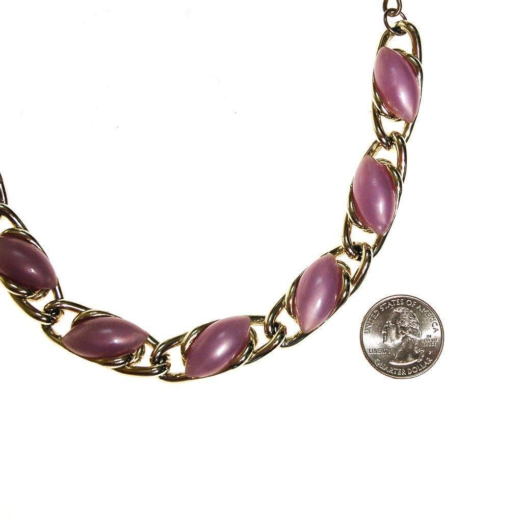 Lavender Moonglow Thermoset Necklace - Vintage Meet Modern  - 2