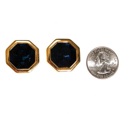 Sapphire Blue Swarovski Statement Earrings by SAL by Swarovski - Vintage Meet Modern Vintage Jewelry - Chicago, Illinois - #oldhollywoodglamour #vintagemeetmodern #designervintage #jewelrybox #antiquejewelry #vintagejewelry