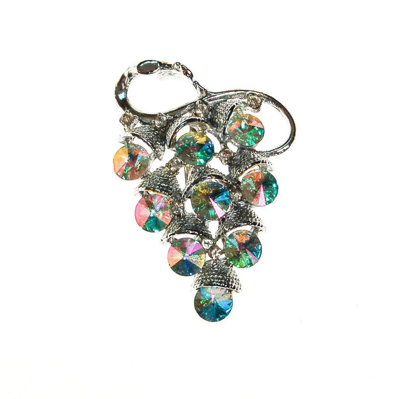 Sparkling Crystal and Rhinestone Grape Cluster Brooch