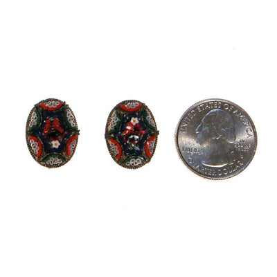 Coloful Mosaic Earrings Made in Italy by Made in Italy - Vintage Meet Modern - Chicago, Illinois