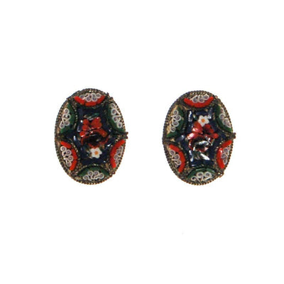 Coloful Mosaic Earrings Made in Italy by Made in Italy - Vintage Meet Modern Vintage Jewelry - Chicago, Illinois - #oldhollywoodglamour #vintagemeetmodern #designervintage #jewelrybox #antiquejewelry #vintagejewelry