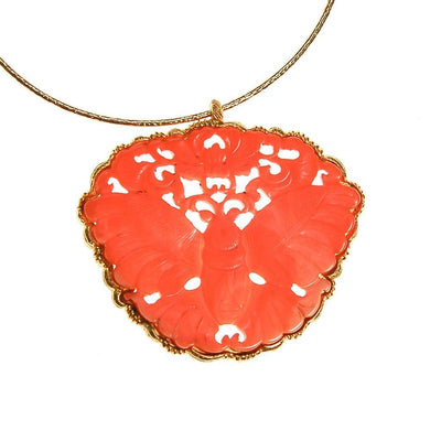 Massive Kenneth Lane Coral Butterfly Pendant Necklace by Kenneth Lane - Vintage Meet Modern Vintage Jewelry - Chicago, Illinois - #oldhollywoodglamour #vintagemeetmodern #designervintage #jewelrybox #antiquejewelry #vintagejewelry
