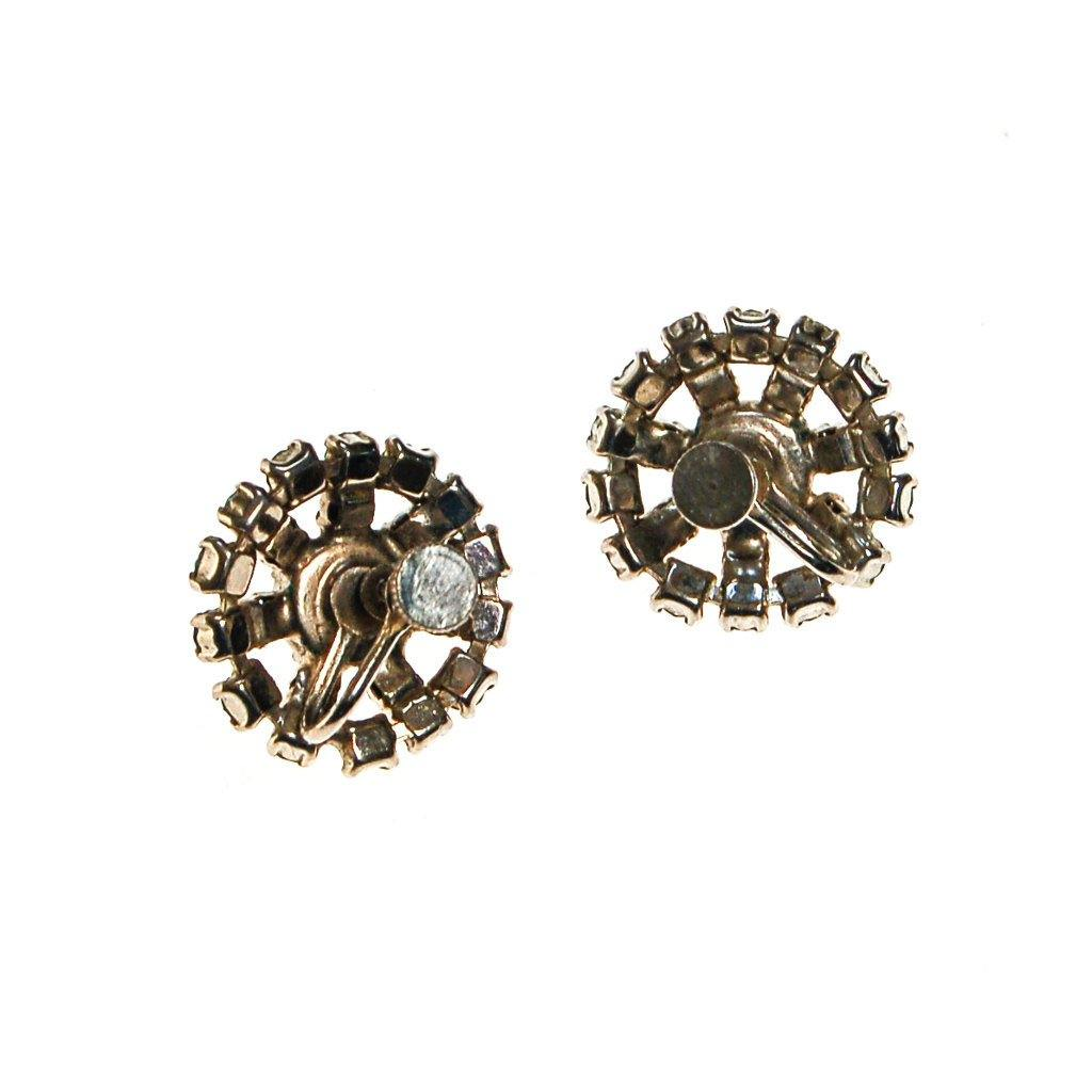 Diamante Rhinestone Earrings - Vintage Meet Modern  - 4