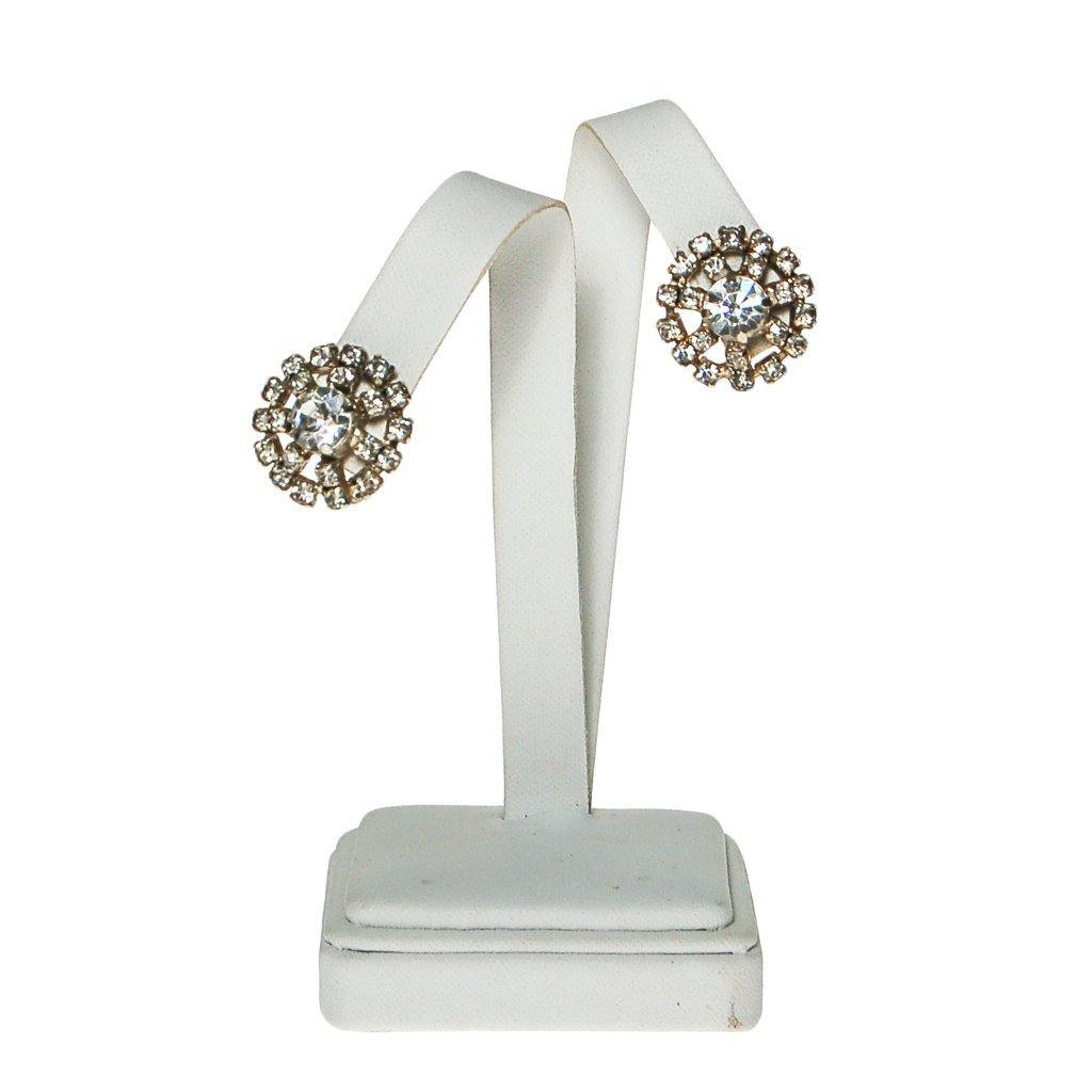 Diamante Rhinestone Earrings - Vintage Meet Modern  - 5