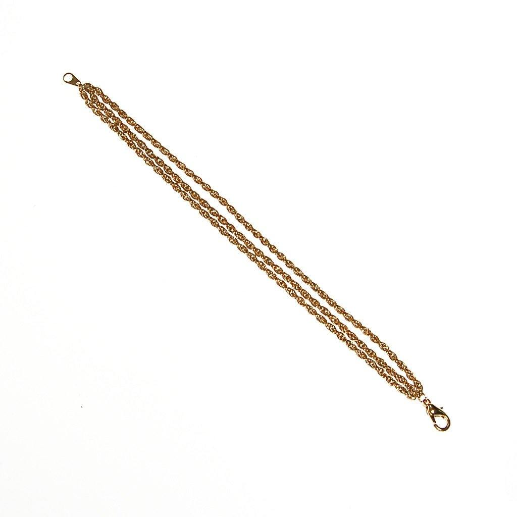 Gold Triple Chain Bracelet - Vintage Meet Modern  - 3