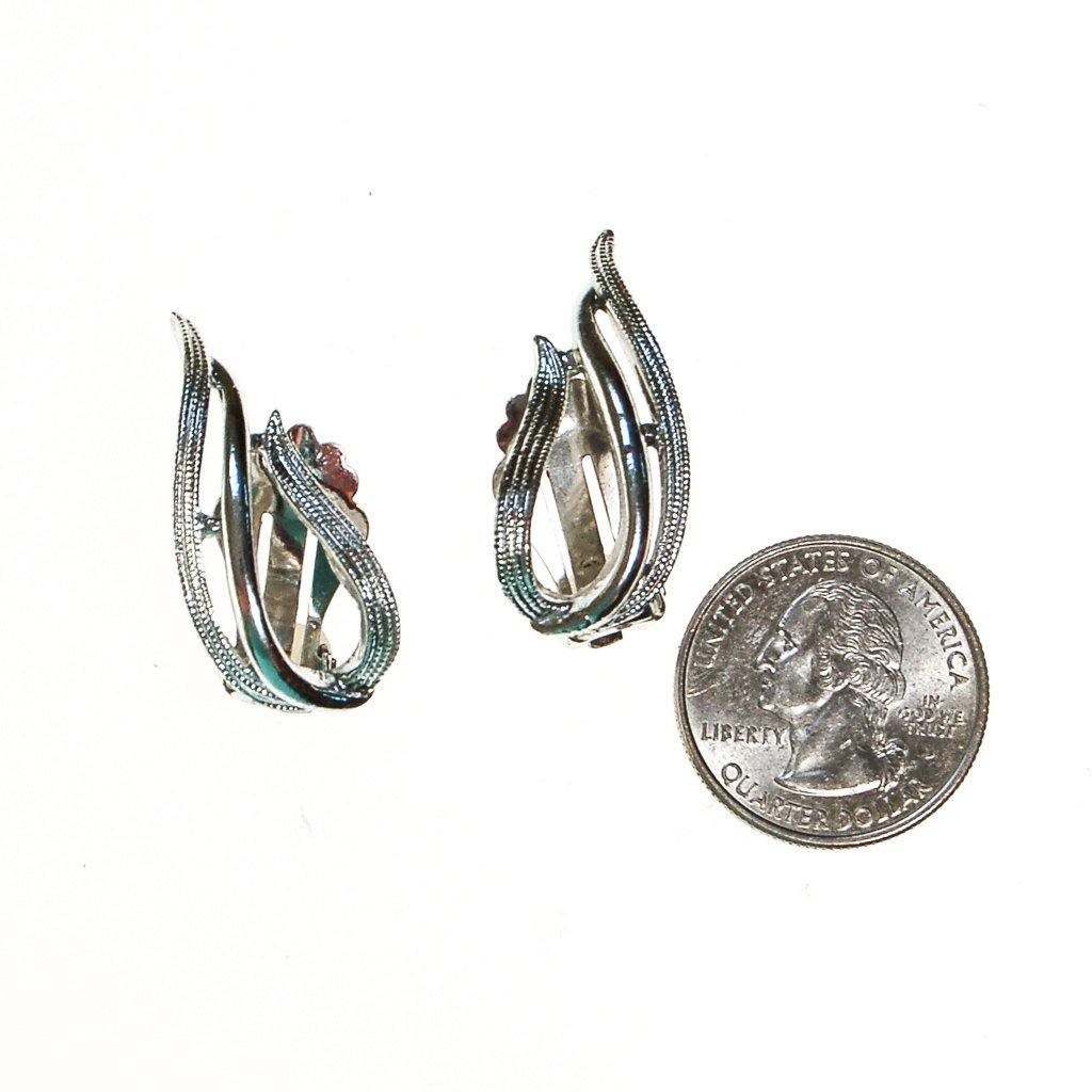 Sarah Coventry Silver Flame Earrings - Vintage Meet Modern  - 3