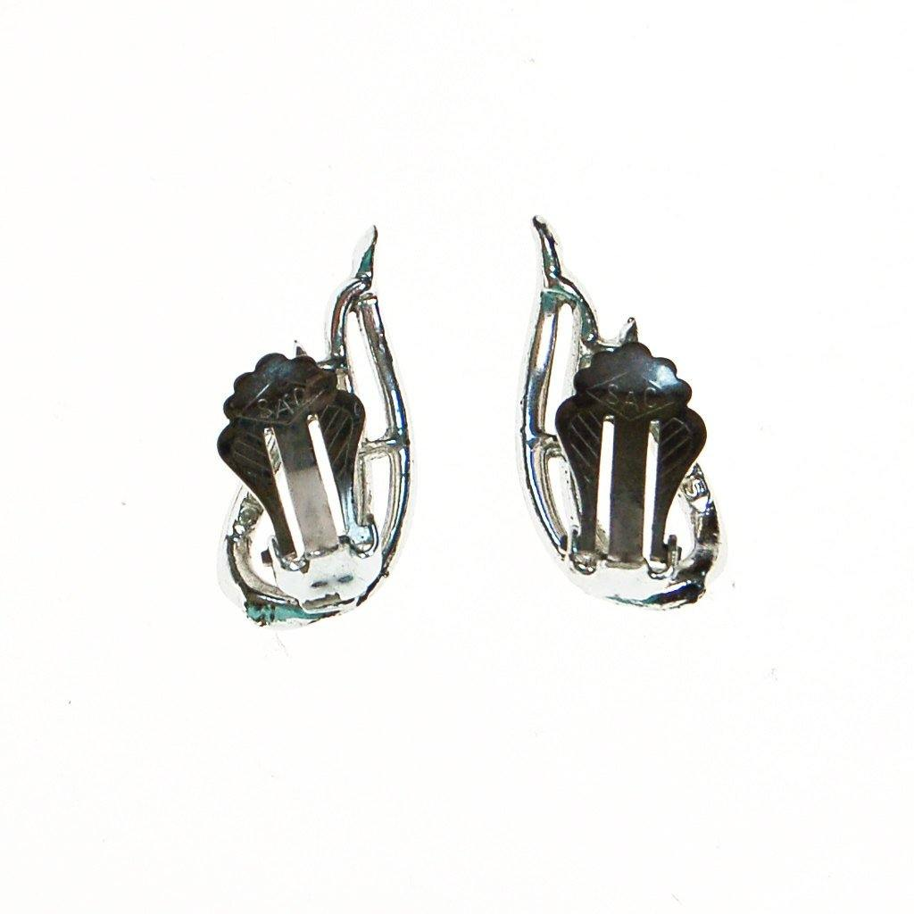Sarah Coventry Silver Flame Earrings - Vintage Meet Modern  - 4