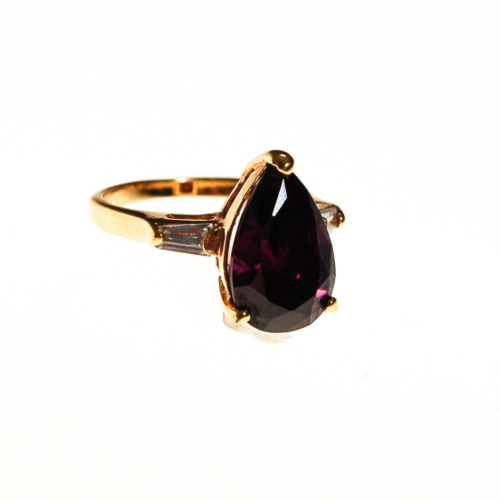 Amethyst CZ Statement Ring - Vintage Meet Modern  - 2